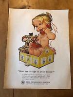 "VINTAGE 1963 BELL TELEPHONE SYSTEM USA COLOUR ORIGINAL ADVERT (13"" x 10.25"")"