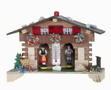 German Weather House with Bavarian Couple and Thermometer Germany Weatherhouse