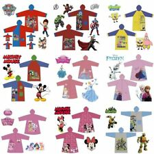 Disney Princess Cartoon Children Waterproof Hooded Rain Coat Jacket Raincoat