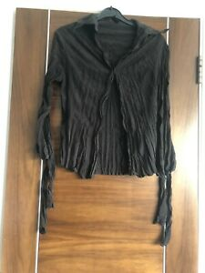 Just Cavalli Chocolate Brown Crinkled Shirt Size 40 Uk 6-8