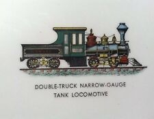 Double Trunk Narrow - Gauge Tank Locomotive Plate - Hangable Train Wall Plate