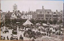 UK Postcard SALISBURY MARKET Farmers Produce Wiltshire England Sepia Photochrom