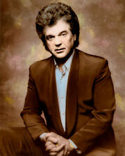 "CONWAY TWITTY COUNTRY WESTERN SINGER SONGWRITER 8x10"" HAND COLOR TINTED PHOTO"