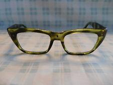 Vintage Japan AO38 Green Tortoise Cat Eye Eyeglass Eyeglasses Sunglasses Frame