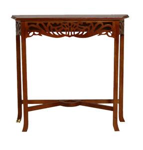 Mahogany Console Latice  Table