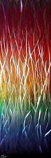 Moderno Abstracto Arte de pared de metal, obras de arte, escultura, decoración del hogar, en el arco iris