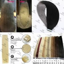 7A 40-65CM Seamless Tape In Skin Weft 100% Remy Human Hair Extensions Full Head