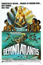 1973 Beyond Atlantis Vintage Fantasy Movie Poster Print 54x36 Big 9 Mil Paper