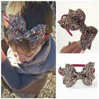 Fashion Kids Baby Girls Bling Hair band Bowknot Headband Infant Head Wrap