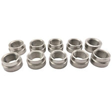 10PC O2 Oxygen Sensor Nut Bung M18 X 1.5 Thread Steel SS Nut fitting Locker Nut