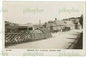 OLD POSTCARD BUDE RAILWAY STATION CORNWALL WHS KINGSWAY REAL PHOTO 1905-10