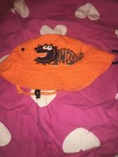 Target Orange Crocodile Bucket  Hat Sz 7-10 Bnwot Free Post (e60)