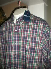 NWT CHAPS RALPH LAUREN POLO L/S MULTI-CHECKED DRESS SHIRT SZ:3XLT 3XT XXXLT