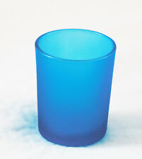 12 Tiffany Blue Glass Tea light Candle Holder Party Event Dinner Decoration NEW