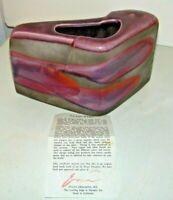 Tony Evans Signed Numbered 226 Raku Pottery Ceramic Vase Ancient Japanese Style