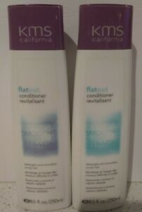2x KMS California Flat Out Conditioner Detangles & Smoothes 8.5 oz NEW