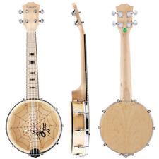 Kmise Banjo Ukulele 4 String Ukelele Uke Concert 23 Inch Maple Wood