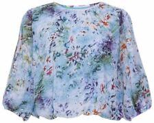 Maglie e camicie da donna bluse blu floreali