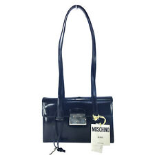 NWT MOSCHINO REDWALL VINTAGE BLACK LEATHER SHOULDER BAG