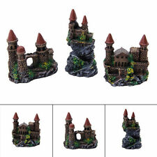 New Aquarium Polyresin Tower Castle Ornament Fish Tank Decoration Accessories