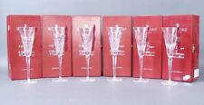 New Waterford Crystal 12 Days of Christmas Flute Complete Set of 12 w/ Charms