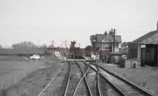 PHOTO  LNER PIERCEBRIDGE RAILWAY STATION VIEW FROM THE CAB OF A DMU APPROACHINGA
