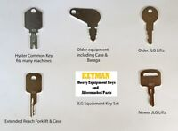 JLG Heavy Equipment / Construction Ignition Key Set (5 Keys) fits many models