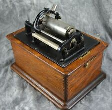 Edison Cylinder Phonograph W/Horn, Crane & 11 Records!! Good Working Condition!!