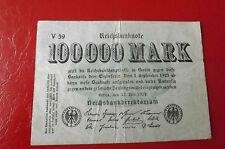 *Reichsbanknoten 100 000 Mark 1923 *(ORD2)