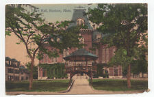 EARLY 1908 Town Hall Hudson Massachusetts MA Posted German Made