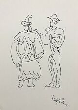 Pablo Picasso - Original Vintage Drawing Hand Signed - Not A Print