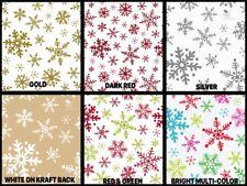 "Snowflake Design Gift Grade Tissue Paper Sheets 15"" x 20"" Choose Design & Amount"