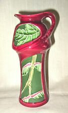 Antique Art Nouveau Majolica Pitcher/Ewer/Vase - Leaves/Leaf Design - French