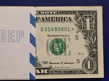 1999 STAR NOTE $1 Dollar ,(Richmond E )  ,Uncirculated ,Consecutive,low number