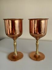 Pair Vintage Copper Goblets Rodd