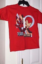 Marvel Iron Man Graphic Boy's LARGE  T-Shirt  Red