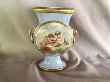 New listing C1880's Exquisite Hand Painted Cherubs Putti Birds Old Paris Limoges Vase