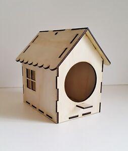 BIGGER Hanging Birdhouse, Wooden Native Bird Feeder, Kid's Gift Present, rustic