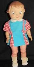 ~Vintage Campbell's Soup Hard Plastic Advertising Doll Girl Original Dress~