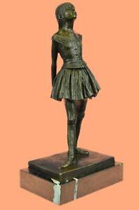 French Bronze Degas Ballerina Girl Statue Figurine Ballet Dancer