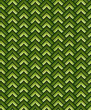 Fabric #2446, Green Chevron, Geometric Jason Yenter ITB, Sold by 1/2 Yard