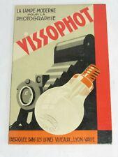 """04F59 ANCIEN CARTON PUBLICITAIRE """"VISSOPHOT"""" PUB LAMPE VISSEAUX APPAREIL PHOTO"""
