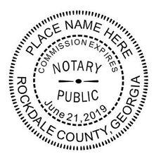 GEORGIA  Notary Seal - GEORGIA  Custom Round Self-Ink NOTARY SEAL RUBBER STAMP
