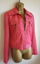 Guess 90s Style Pink Waist Length Jacket Coat Size M UK 10