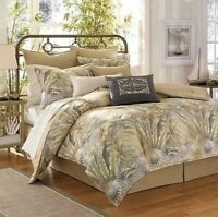 NEW TOMMY BAHAMA BAHAMIAN BREEZE TROPICAL 3 PIECE TWIN COMFORTER SKIRT SHAM SET