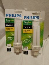 2 PACK Philips 230409 13 Watt PL-C Cool White Compact Fluorescent Light Bulb