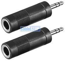 "2 x 3.5mm AUX STEREO MALE PLUG to 6.35mm 1/4"" JACK FEMALE SOCKET AUDIO ADAPTER"