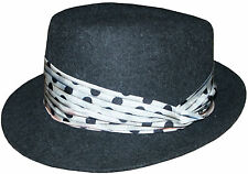 PAUL SMITH 100% WOOL TRILBY / HAT WITH SILK BAND SIZE-M VERY RARE made in Italy