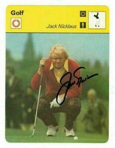 Jack Nicklaus Authentic Autographed Signed PGA Legend 1977 Sportscaster Card