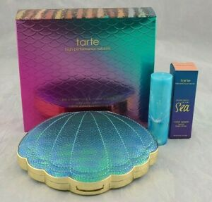 Tarte Be A Mermaid Eyeshadow Palette Rainforest of the Sea Lipstick Pink Lemonad